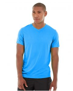 Atomic Endurance Running Tee (V-neck)-XS-Blue